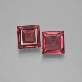 Red Pyrope Garnet Gem - 0.7ct Square Step-Cut (ID: 451126)