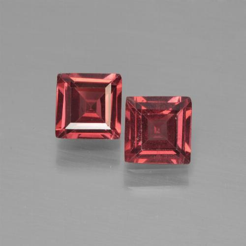 Dark Red Pyrope Garnet Gem - 0.7ct Square Step-Cut (ID: 451128)