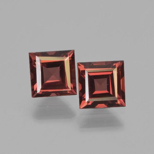Deep Red Pyrope Garnet Gem - 0.8ct Square Step-Cut (ID: 451157)
