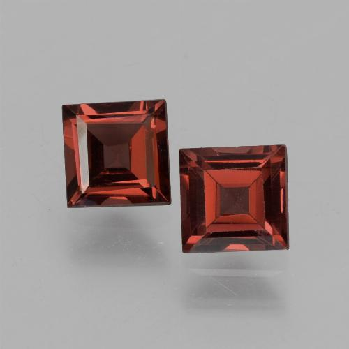 Red Pyrope Garnet Gem - 0.8ct Square Step-Cut (ID: 451170)