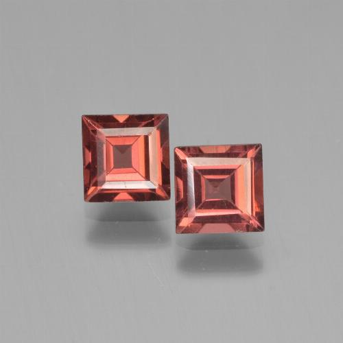 Red Pyrope Garnet Gem - 0.9ct Square Step-Cut (ID: 451184)