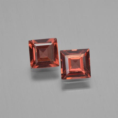 Red Pyrope Garnet Gem - 0.7ct Square Step-Cut (ID: 451191)