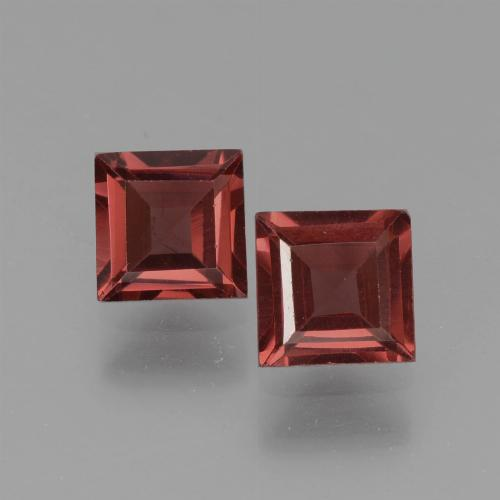 Deep Wine Red Pyrope Garnet Gem - 0.8ct Square Step-Cut (ID: 451199)