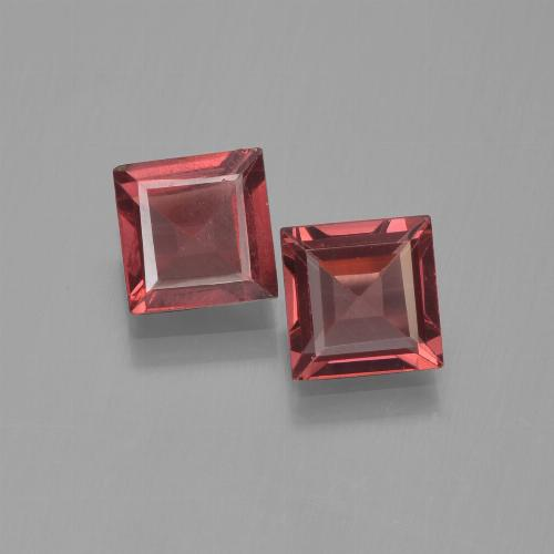Red Pyrope Garnet Gem - 0.7ct Square Step-Cut (ID: 451206)