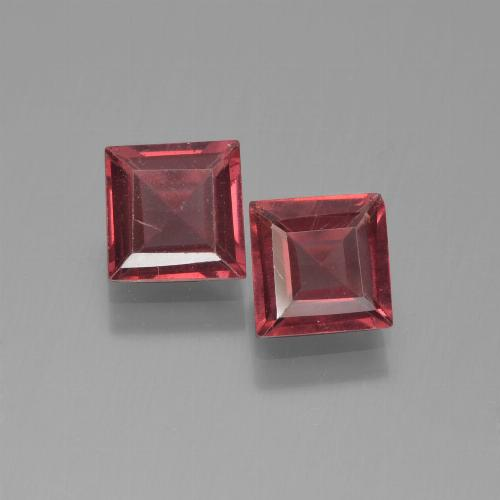 Medium-Dark Red Pyrope Garnet Gem - 0.7ct Square Step-Cut (ID: 451211)