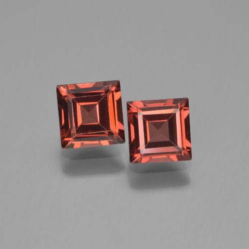 Red Pyrope Garnet Gem - 0.8ct Square Step-Cut (ID: 451218)