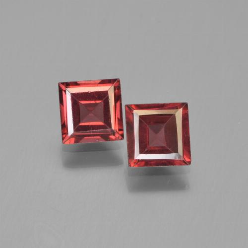 Merlot Red Pyrope Garnet Gem - 0.7ct Square Step-Cut (ID: 451223)