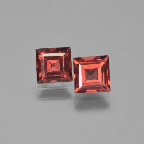 Medium Red Pyrope Garnet Gem - 0.8ct Square Step-Cut (ID: 451224)