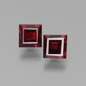 Red Pyrope Garnet Gem - 0.8ct Square Step-Cut (ID: 451237)