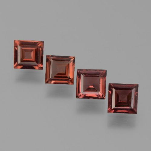 Red Pyrope Garnet Gem - 0.6ct Square Step-Cut (ID: 451255)