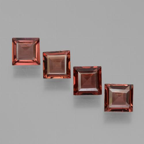 Currant Red Pyrope Garnet Gem - 0.7ct Square Step-Cut (ID: 451256)