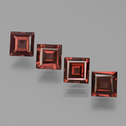 Red Pyrope Garnet Gem - 0.7ct Square Step-Cut (ID: 451264)