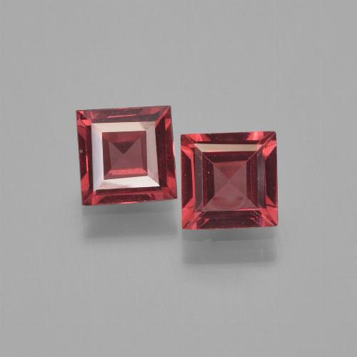Red Pyrope Garnet Gem - 0.7ct Square Step-Cut (ID: 451289)