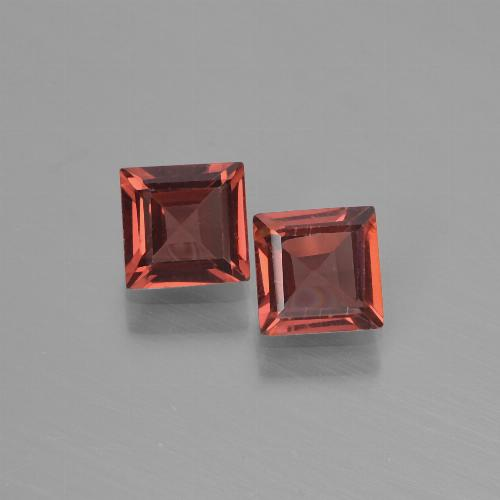 Red Pyrope Garnet Gem - 0.7ct Square Step-Cut (ID: 451293)