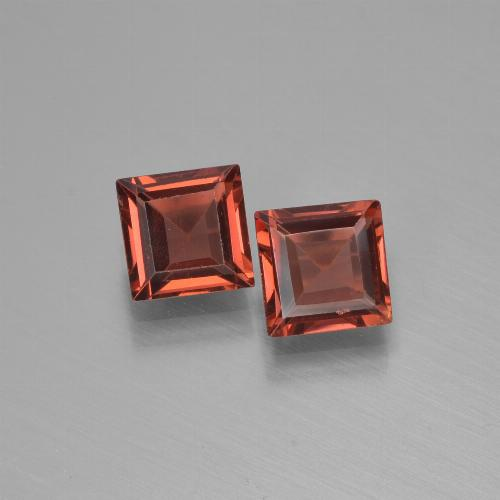 Red Pyrope Garnet Gem - 0.7ct Square Step-Cut (ID: 451298)