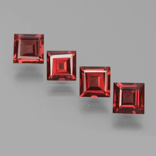 Red Pyrope Garnet Gem - 0.7ct Square Step-Cut (ID: 451306)