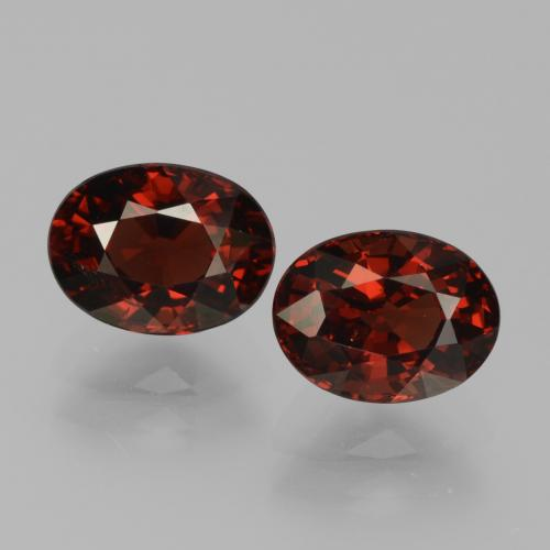 Red Pyrope Garnet Gem - 1.9ct Oval Facet (ID: 451726)