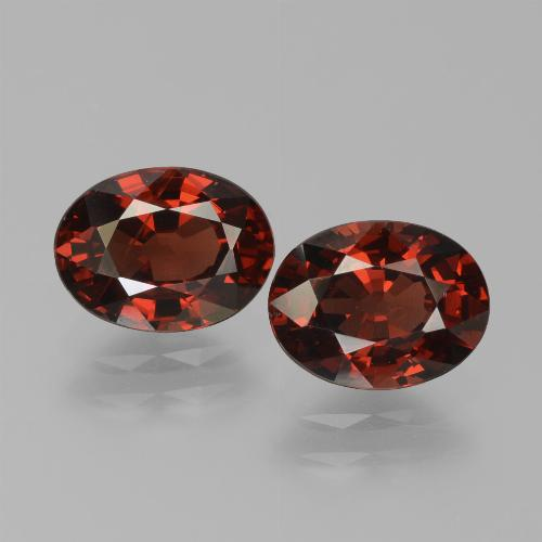 Red Pyrope Garnet Gem - 1.6ct Oval Facet (ID: 451731)