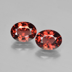 Red Pyrope Garnet Gem - 1.6ct Oval Facet (ID: 451740)