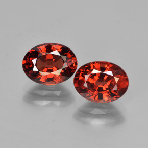 Red Pyrope Garnet Gem - 1.8ct Oval Facet (ID: 451742)