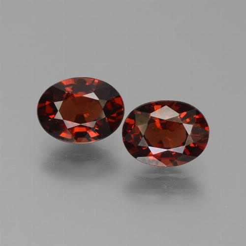 Red Pyrope Garnet Gem - 1.6ct Oval Facet (ID: 451745)