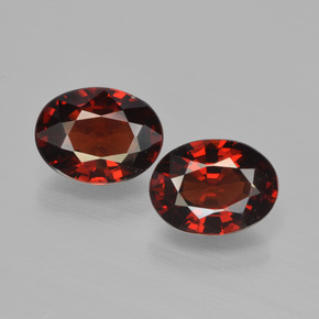 Red Pyrope Garnet Gem - 1.5ct Oval Facet (ID: 451765)