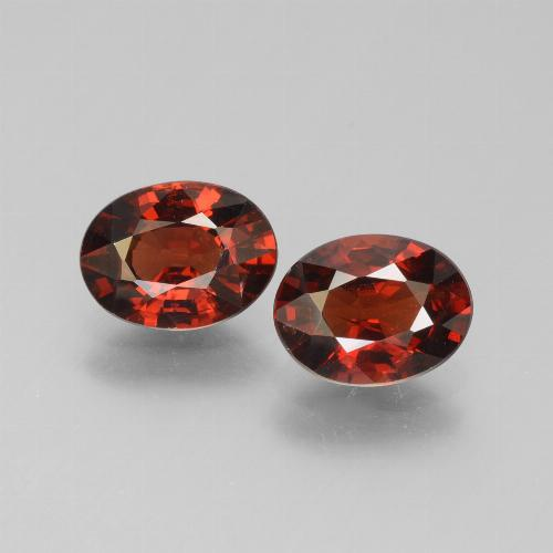 Red Pyrope Garnet Gem - 1.5ct Oval Facet (ID: 451789)