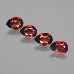 0.8ct Corte en forma de pera Deep Blood Red Granate Piropo Gema (ID: 452995)