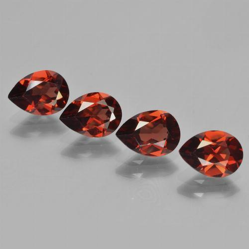 Bright Red Granate Piropo Gema - 0.8ct Corte en forma de pera (ID: 453039)