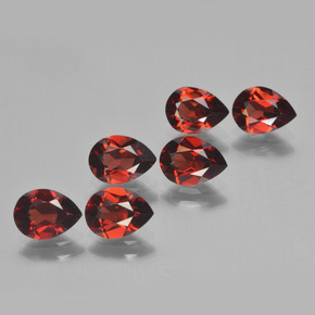 0.9ct Pear Facet Deep Red Pyrope Garnet Gem (ID: 453060)