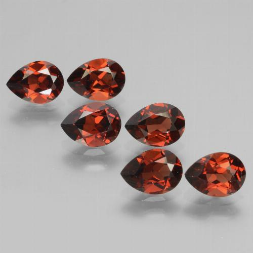 Red Pyrope Garnet Gem - 0.9ct Pear Facet (ID: 453068)