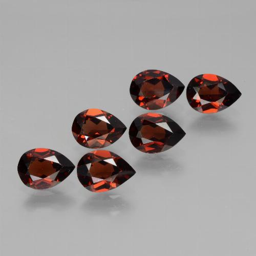 0.8ct Pear Facet Deep Red Pyrope Garnet Gem (ID: 453125)