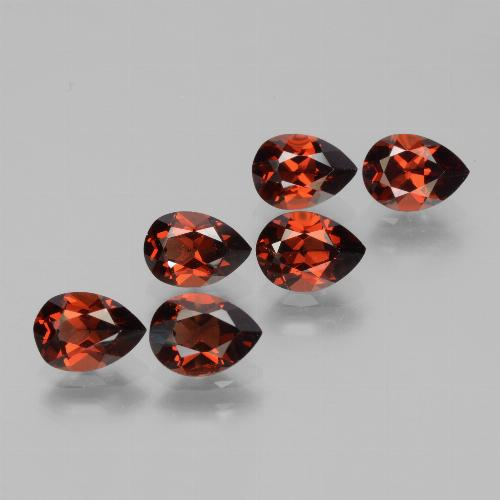Red Pyrope Garnet Gem - 0.9ct Pear Facet (ID: 453132)