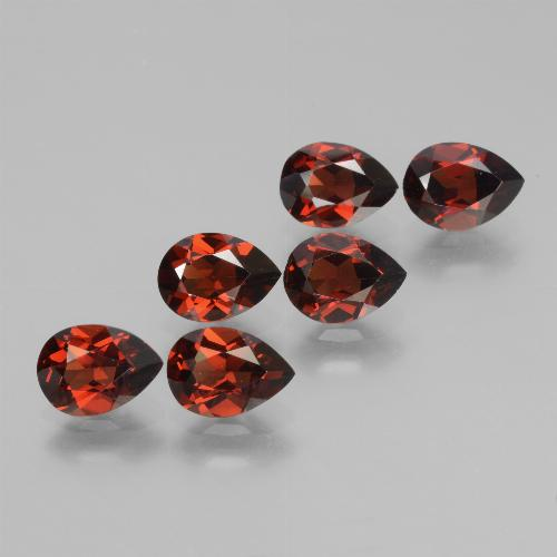 0.9ct Pear Facet Deep Red Pyrope Garnet Gem (ID: 453134)