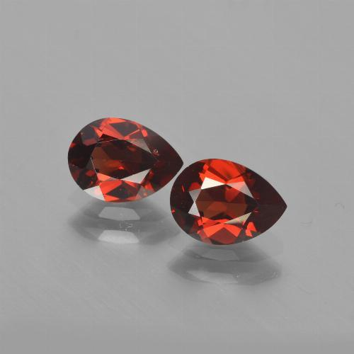 Red Pyrope Garnet Gem - 1ct Pear Facet (ID: 453152)