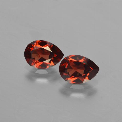 Red Pyrope Garnet Gem - 0.9ct Pear Facet (ID: 453197)