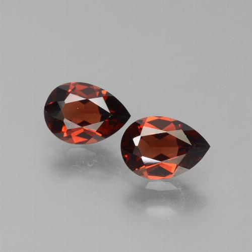 Red Pyrope Garnet Gem - 0.9ct Pear Facet (ID: 453350)