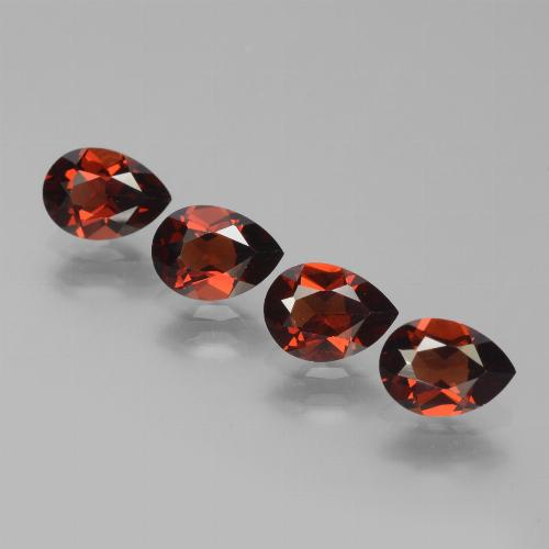 Red Pyrope Garnet Gem - 0.9ct Pear Facet (ID: 453367)