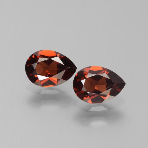 0.9ct Pear Facet Deep Red Pyrope Garnet Gem (ID: 453390)