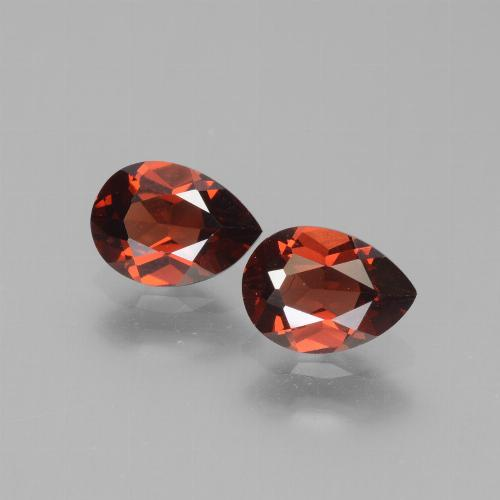 Red Pyrope Garnet Gem - 0.9ct Pear Facet (ID: 453393)