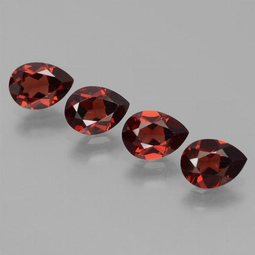 0.9ct Pear Facet Deep Red Pyrope Garnet Gem (ID: 453455)