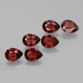 0.8ct Pear Facet Deep Red Pyrope Garnet Gem (ID: 453458)