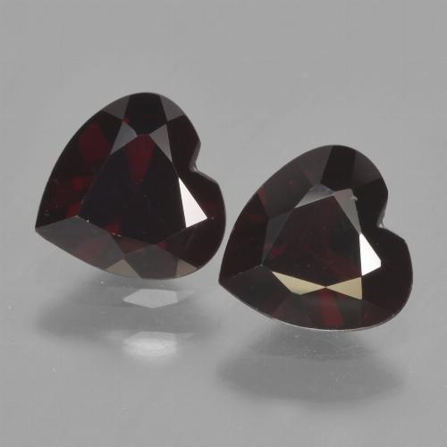 Dark Red Pyrope Garnet Gem - 0.9ct Heart Facet (ID: 456189)