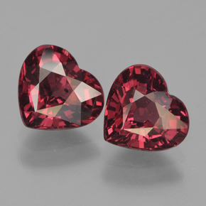 Red Pyrope Garnet Gem - 1.5ct Heart Facet (ID: 456240)
