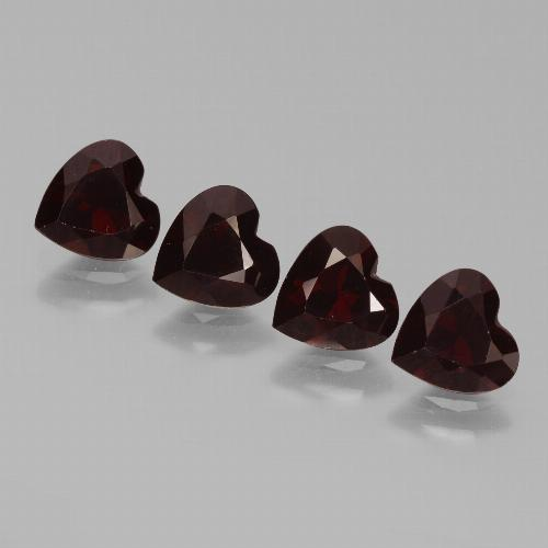 Deep Red Pyrope Garnet Gem - 0.8ct Heart Facet (ID: 456314)