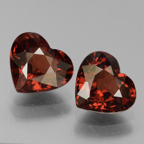 Red Pyrope Garnet Gem - 1.5ct Heart Facet (ID: 456339)