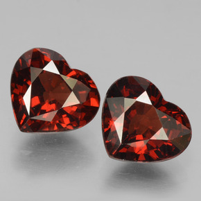 Red Pyrope Garnet Gem - 1.7ct Heart Facet (ID: 456347)