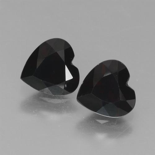 Dark Red Pyrope Garnet Gem - 0.9ct Heart Facet (ID: 456388)