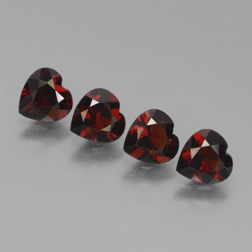 thumb image of 0.8ct Heart Facet Red Pyrope Garnet (ID: 456435)