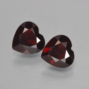Blackish Red Pyrope Garnet Gem - 0.8ct Heart Facet (ID: 456454)